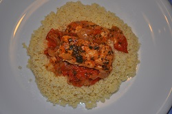 Merluzzo all'agro con verdure e couscous, ricetta light